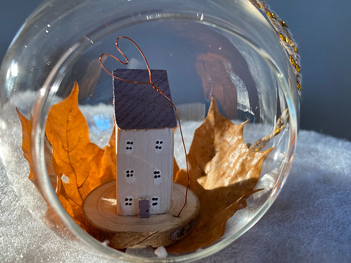 Autumnal Glass Bauble