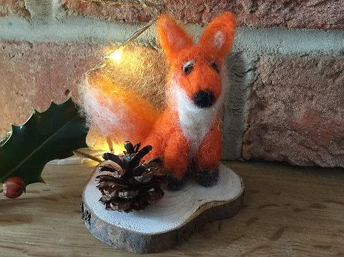 Mr Fox Needle Felt