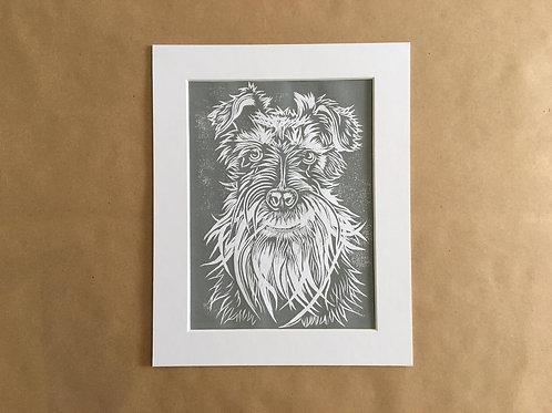 Schnauzer Print (Light Grey)
