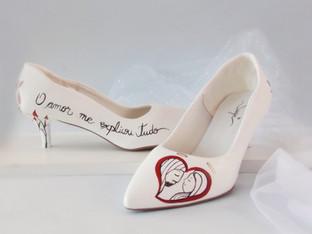Frases inspiradoras para escrever no sapato de noiva