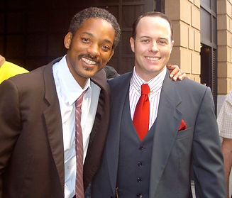 Will Smith and Geoff Callan on set of Pu
