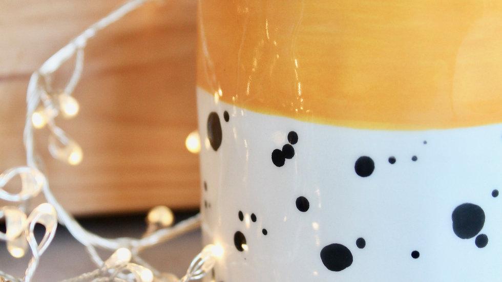 Dotty pot -Yellow small