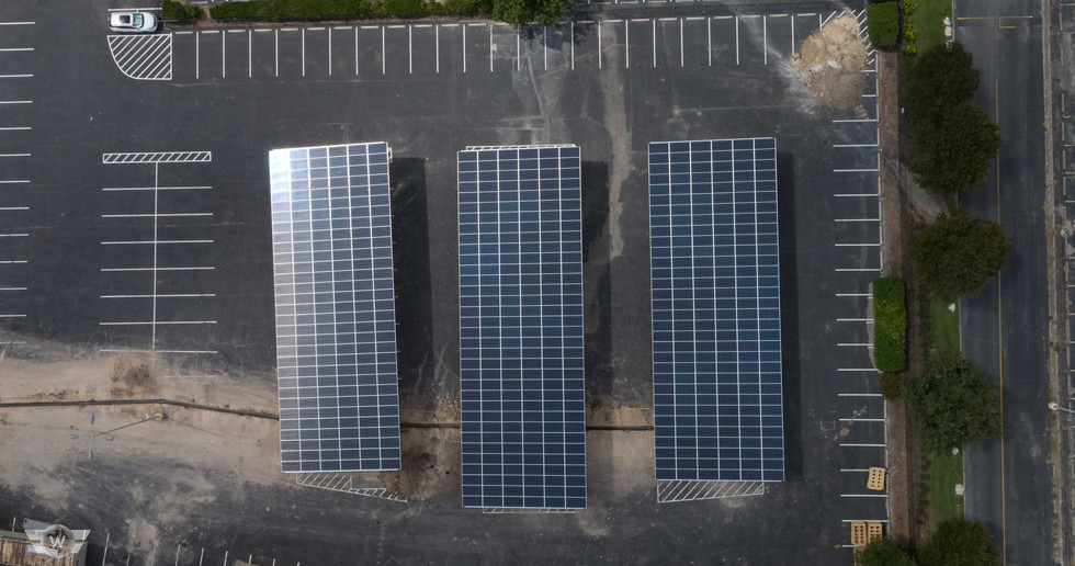 Go Smart Solar | Big Sun Community Solar I Austin Highway Carport - White Cloud Drones