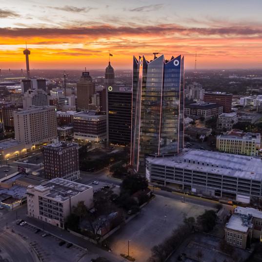 Morning sunrise San Antonio