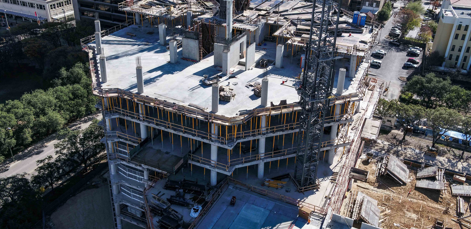 Construction tracking of Frost Tower I May 2018 I White Cloud Drones