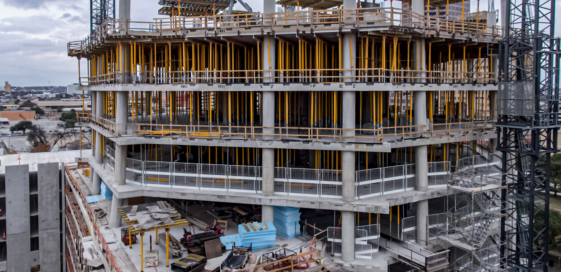 Construction tracking of Frost Tower I June 2018 I White Cloud Drones