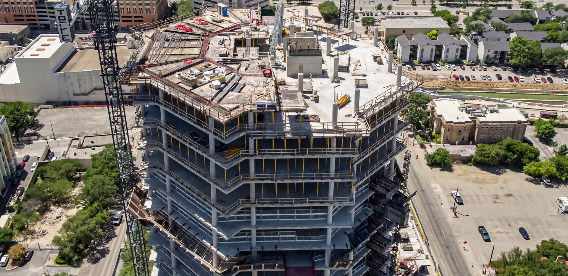 Construction tracking of Frost Tower I July 2018 I White Cloud Drones