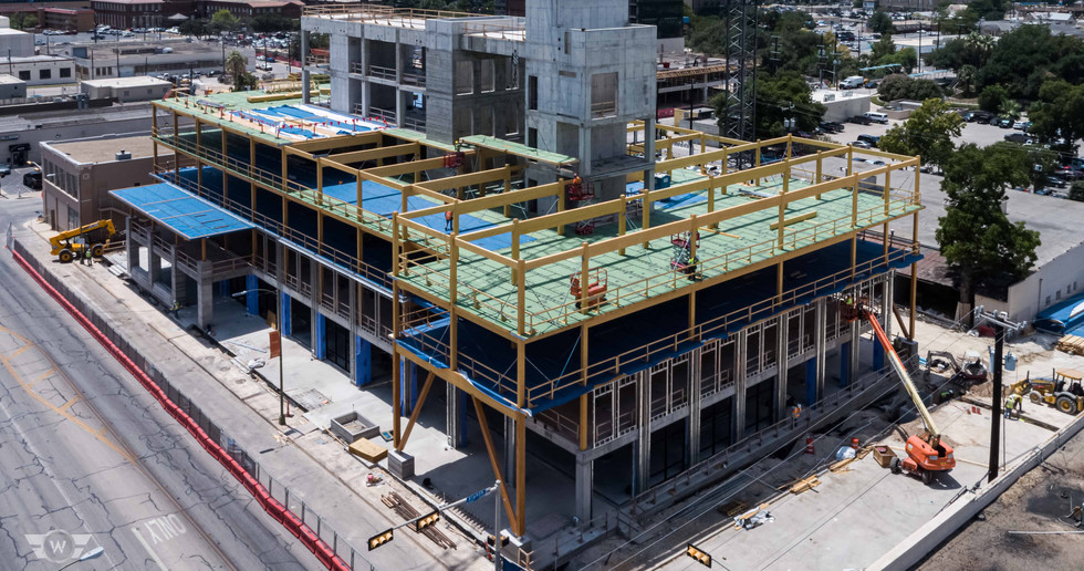 Drone photo of The Soto building construction - White Cloud Drones.jpg