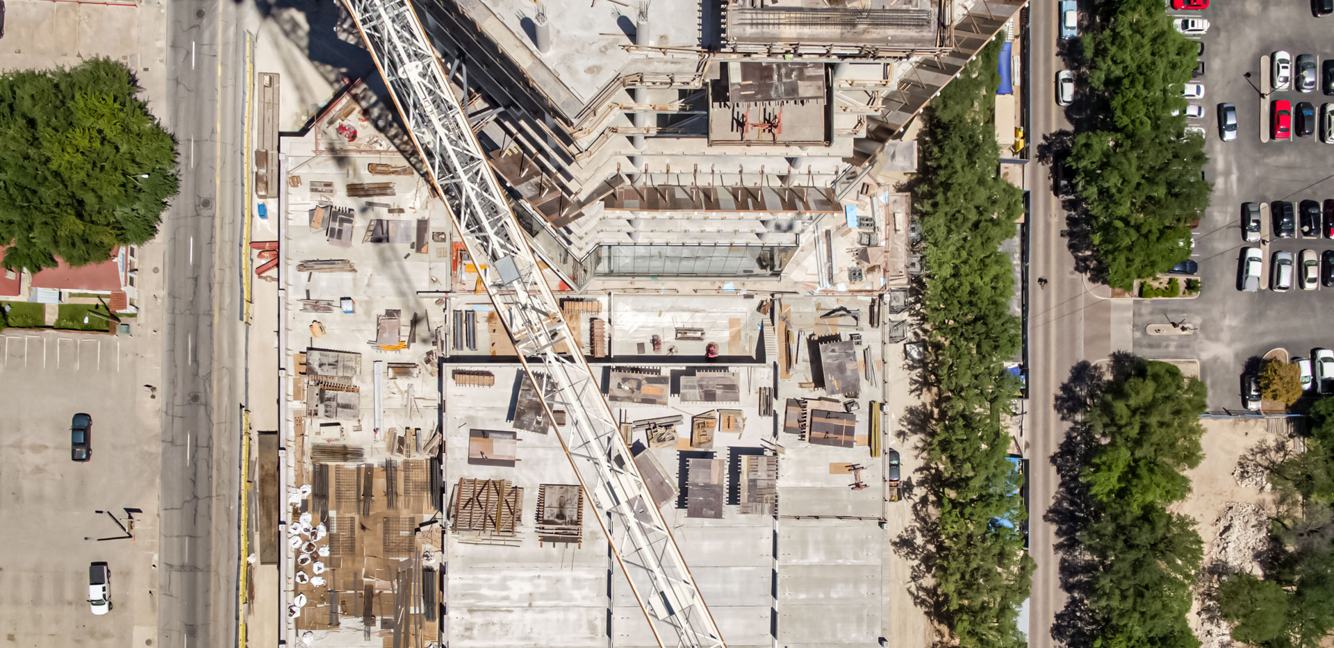 Construction tracking of Frost Tower I January 2018 I White Cloud Drones