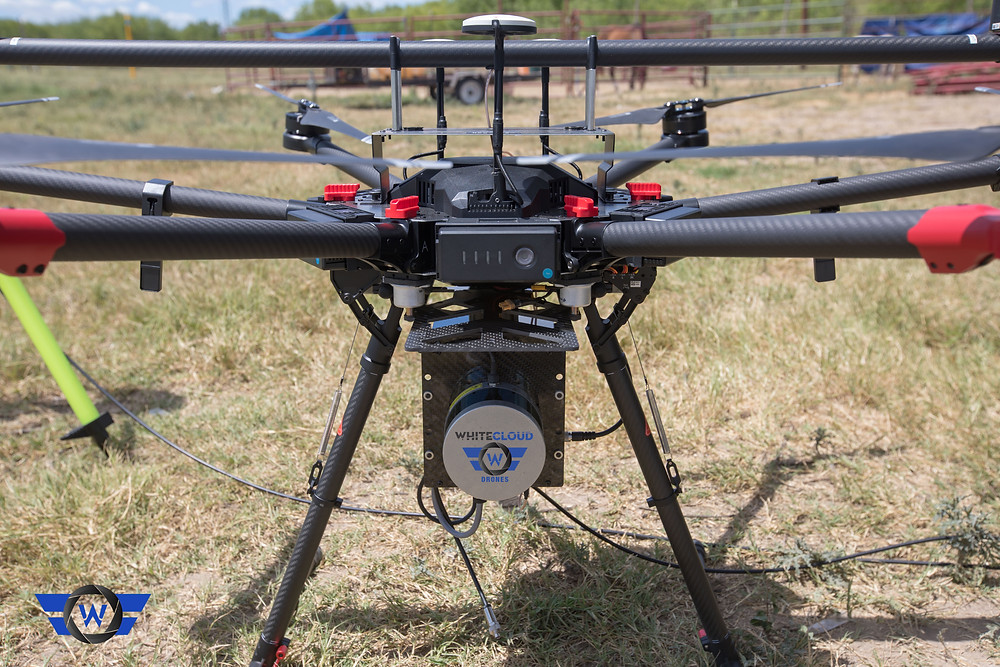 White Cloud Drones uses LiDAR mounted censors on UAVs to collect data.