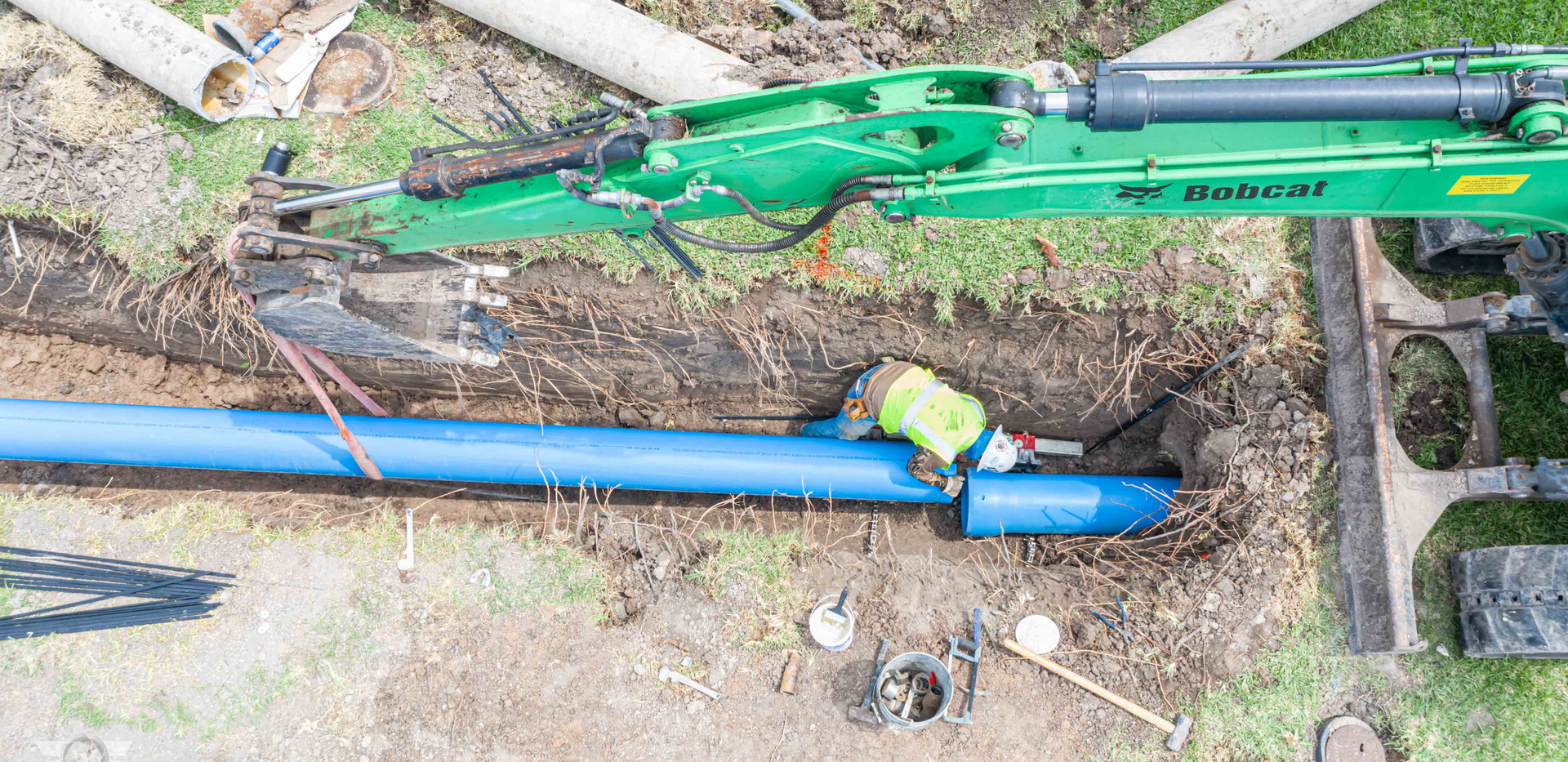 NAPCO pipe replacement project in Harlingen, TX - White Cloud Drones