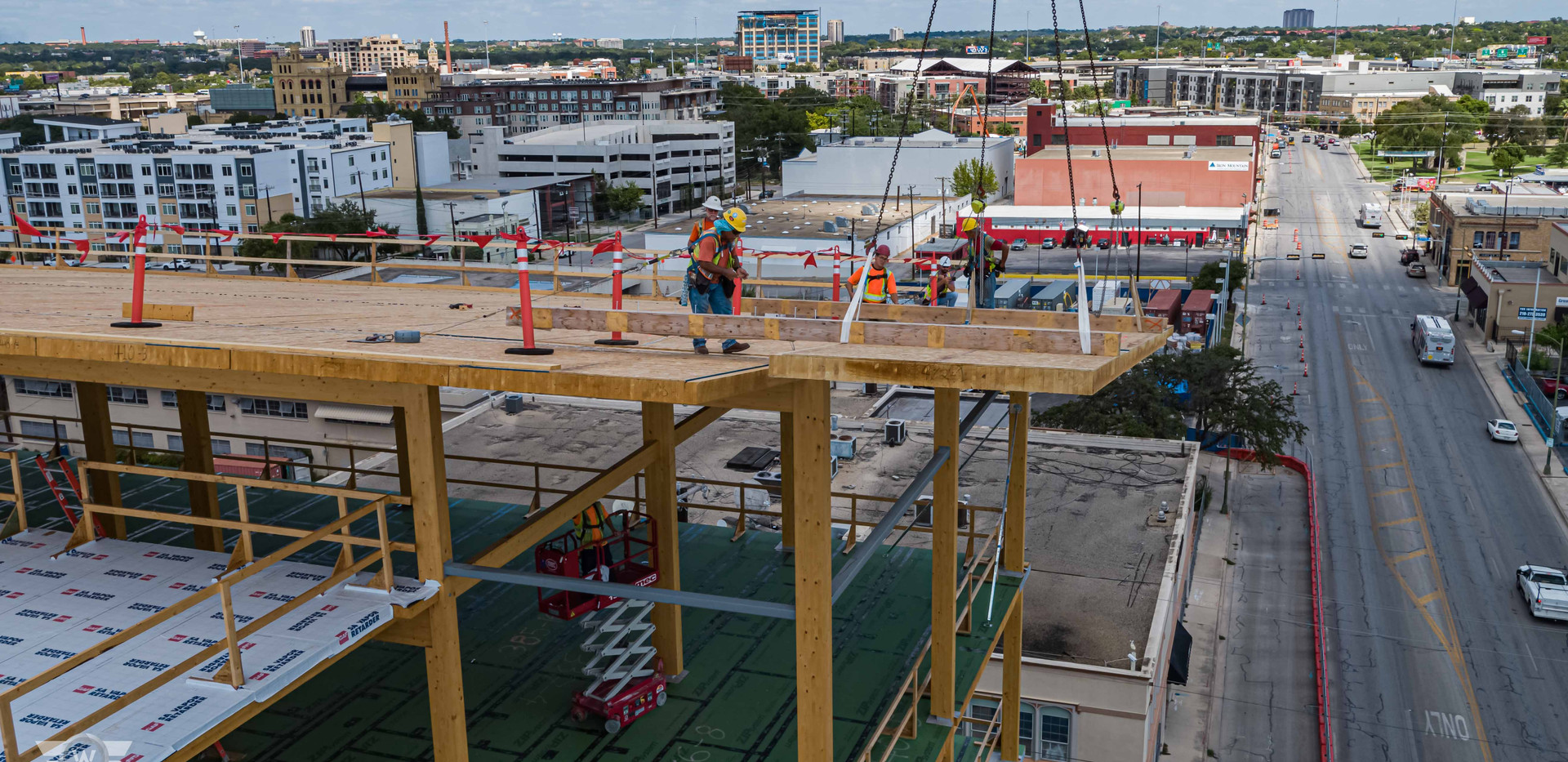 Drone photo of construction worker at The Soto - White Cloud Drones.jpg