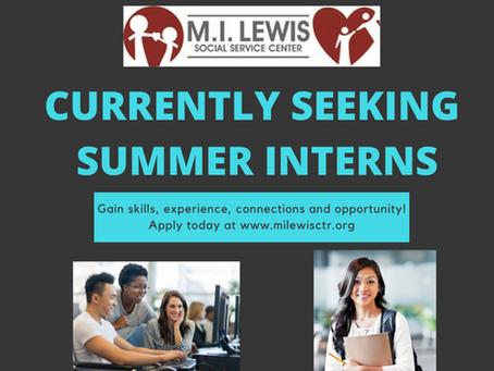 Summer Interns Wanted