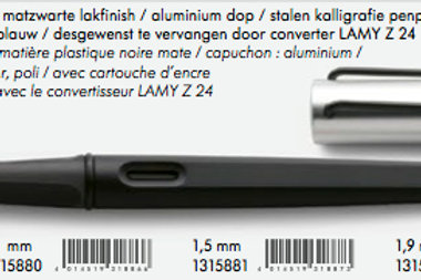 Pluma Mod 011 Joy negro 1.5mm