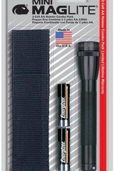 Maglite AA Blister negro con Estuche nylon -M2A01H