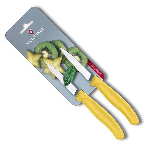 Cuchillo Legumbres 8 cm amarillo - 6.7636.L118B