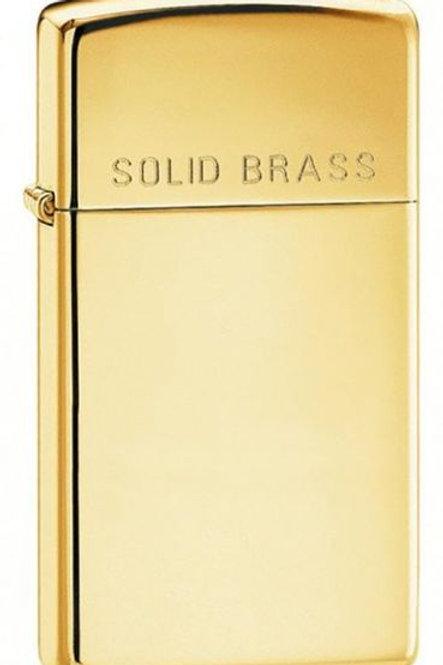 Slim High Polish Brass W/Solid Brass Engraved - 1654
