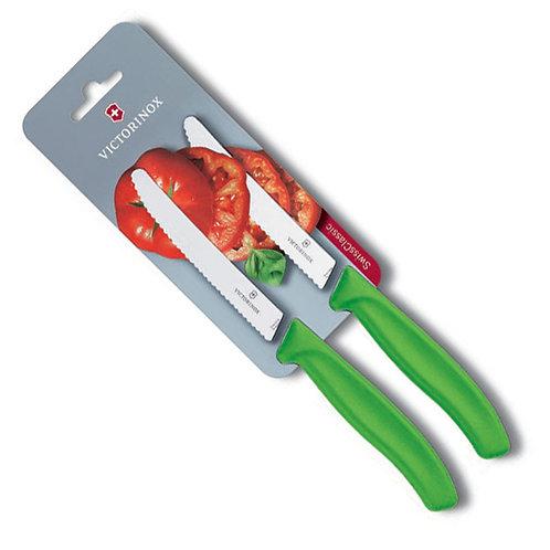 Cuchillo de tomate 11 cm verde - 6.7836.L114B