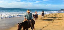 Take a horse ride near on the beach.