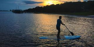 Si vous aimez l'aviron, vous pouvez le faire en louant un kayak ou une pagaie pour glisser sur les eaux du lagon, où vous pourrez observer la flore et la faune au coucher du soleil. Disponible 24h / 24, notre réseau de transport est à votre disposition pour vous y conduire.