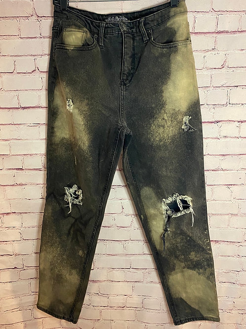 Bleached Black Jeans