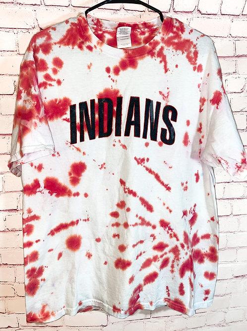 Tie Dye Clevand Indians Tee