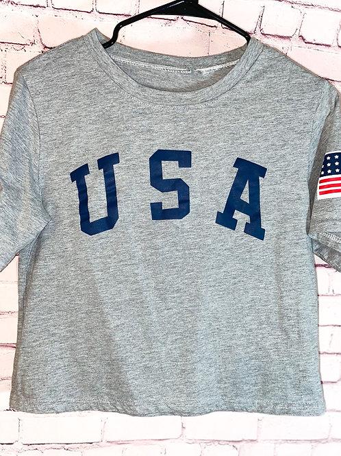 USA Crop Top