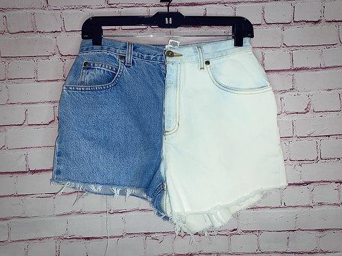 Split Dye Jean Shorts