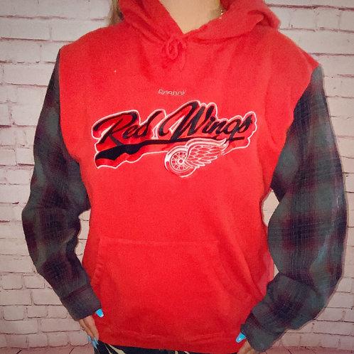 Redwings Reworked Flannel Hoodie