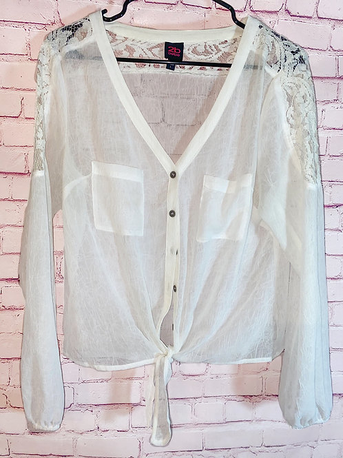 Button down lace shirt
