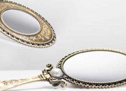 Handspiegel Design Brass