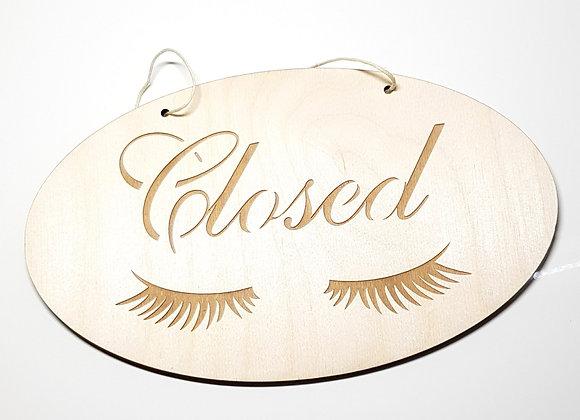 Open- Closed Schild Lashes