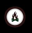 Campfire Badge White