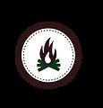 Campfire Badge Vit