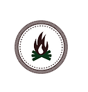 Campfire Badge White