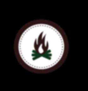 Campfire Badge blanc