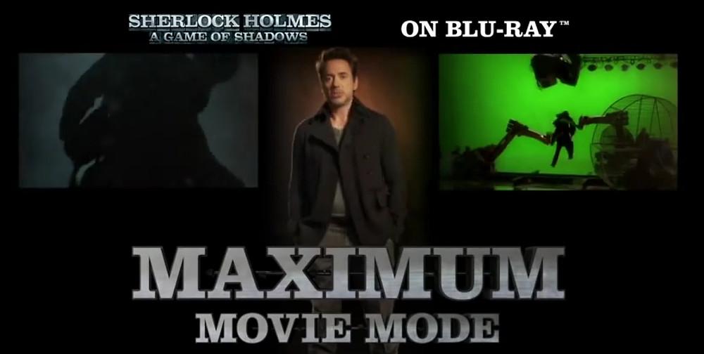 Maximum Movie Mode na disku Sherlock Holmes: A Game of Shadows