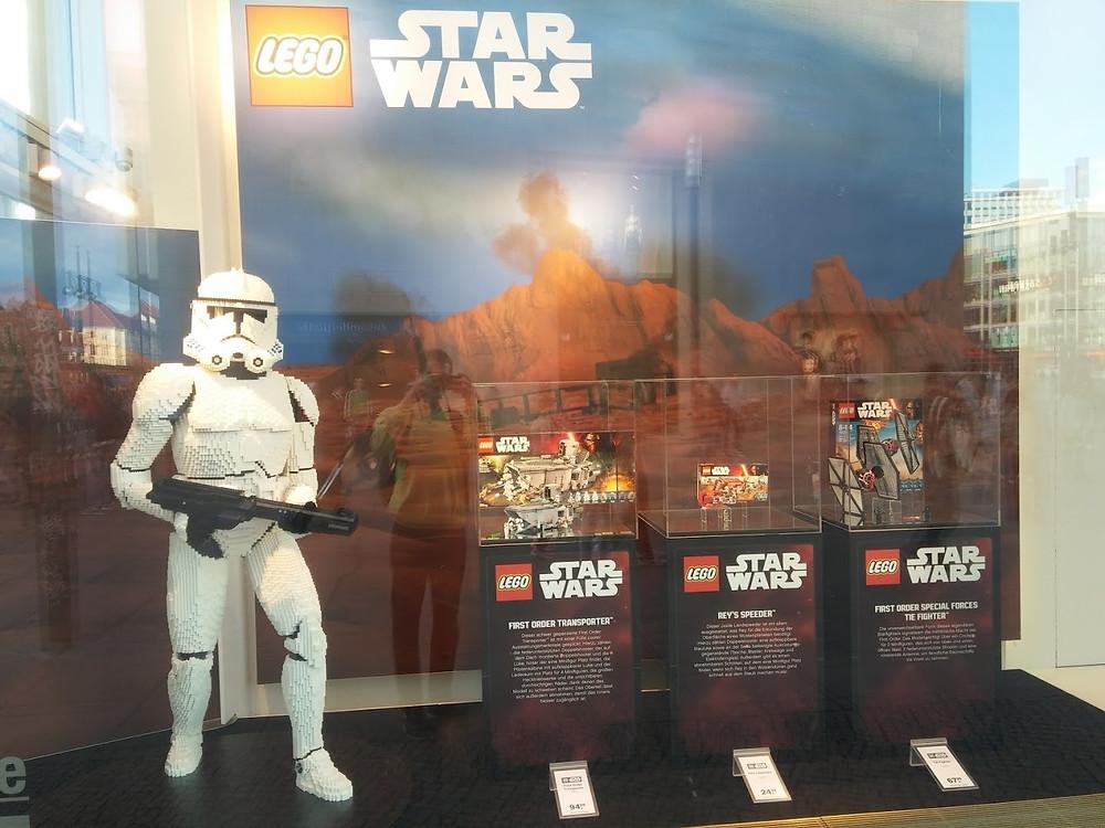 Star Wars Lego na berlínském Alexanderplatzu
