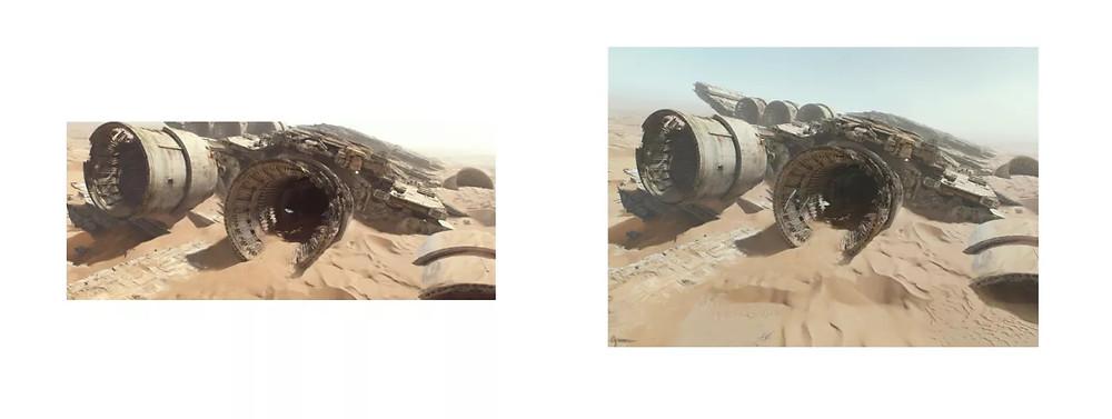 Star Wars: Síla se probouzí (IMAX 70mm vs 35mm, makingstarwars.net)