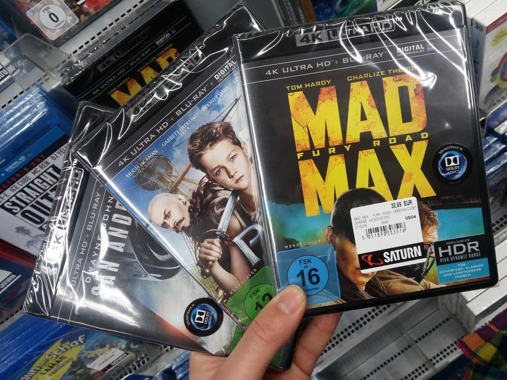 Ultra HD Blu-ray v německém Saturnu