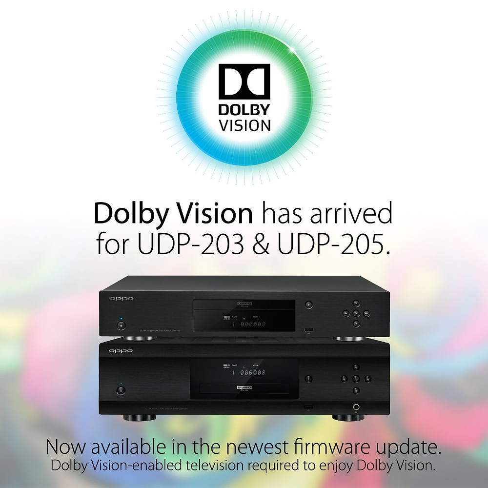 Dolby Vision na Oppo UDP-203 a 205