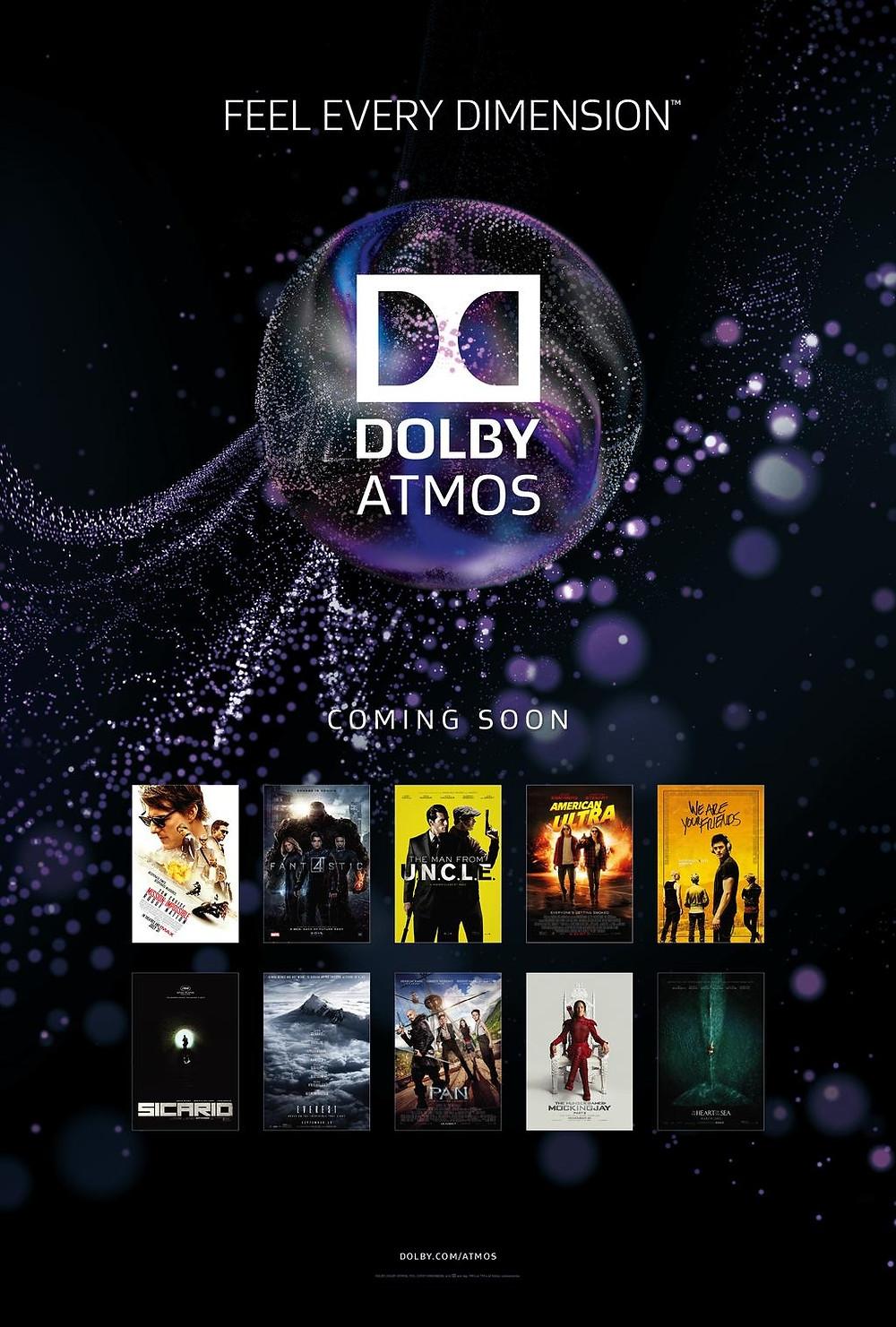 Dolby Atmos: Nejbližší kinopremiéry