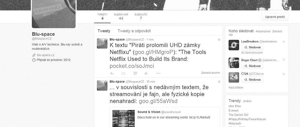 Blu-space na Twitteru
