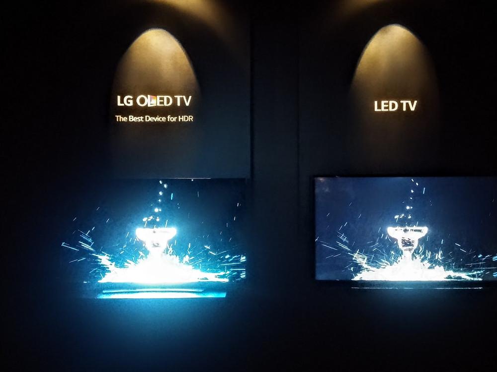OLED vs LED (IFA 2015, LG)