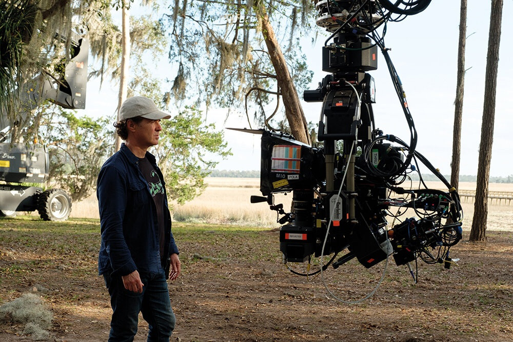 HFR camera rig on the set of Gemini Man
