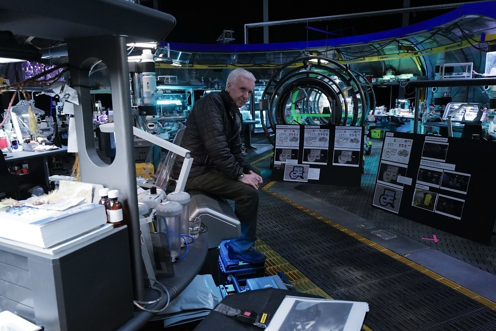 James Cameron on the set of Avatar sequels