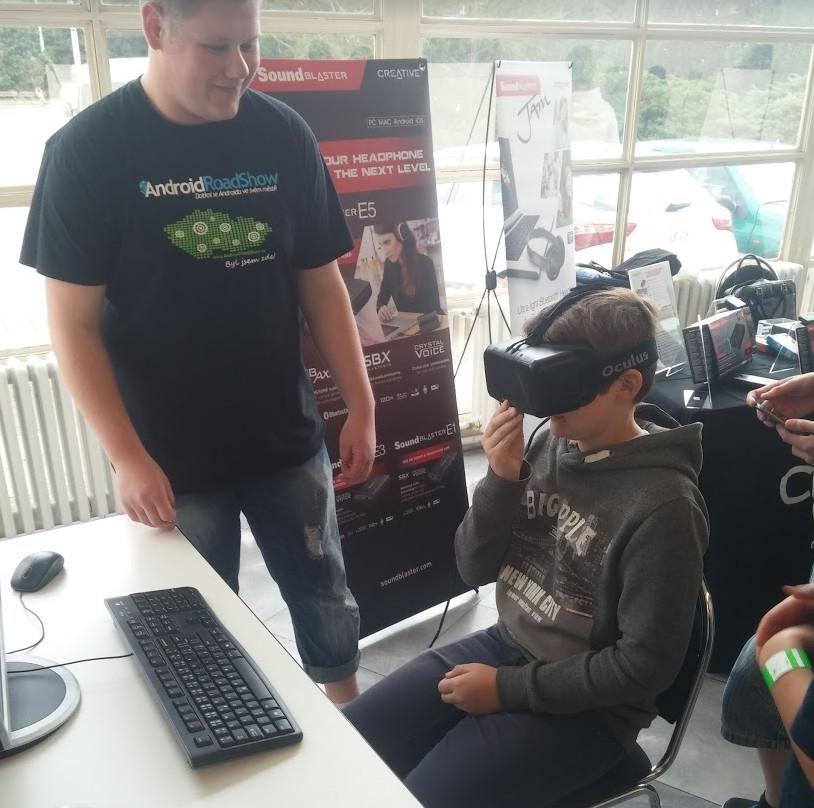 Oculus Rift (Alza Android RoadShow 2015, Brno)