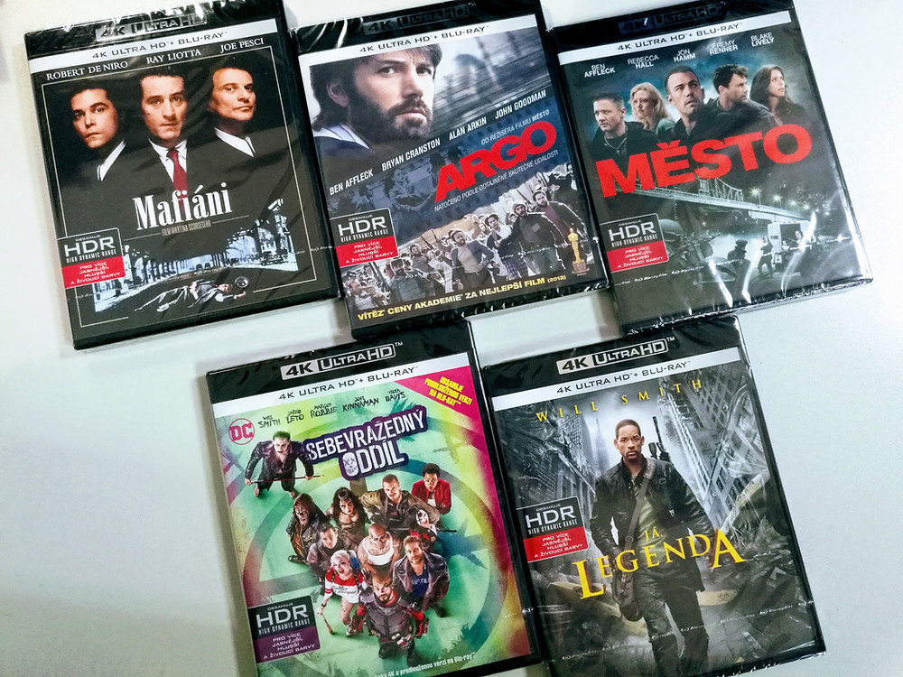 Některé z prvních českých Ultra HD Blu-ray disků
