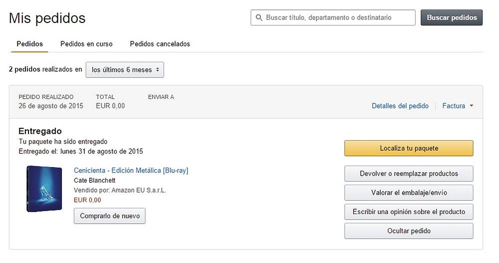 Reklamace na Amazonu