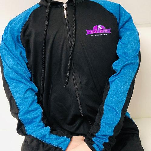 Black/Blue Light Weight Jacket Hoodie